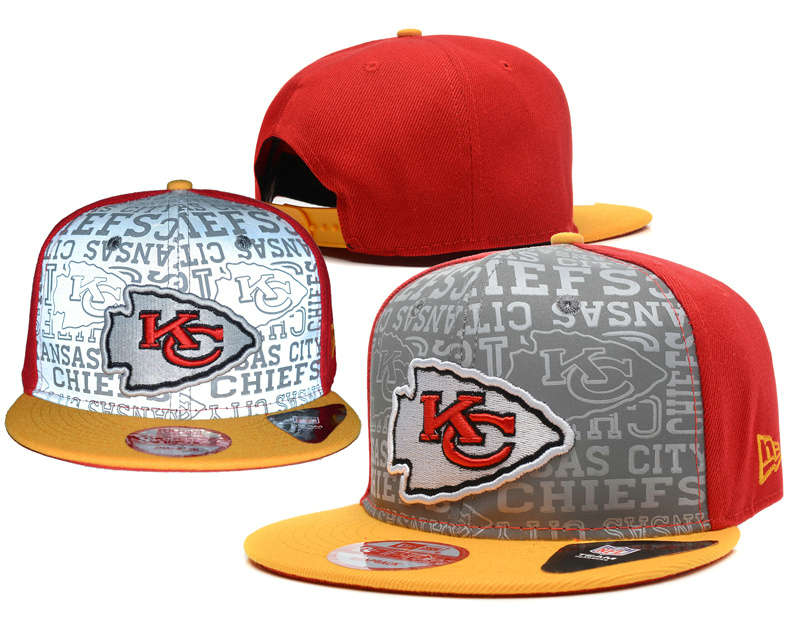 Kansas City Chiefs 2014 Draft Reflective Snapback Hat SD 0613